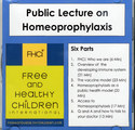 Public Lecture on Homeoprophylaxis - 1 CD/Kate Birch