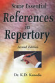 Some Essential References in Repertory/K.D. Kanodia