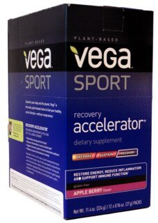 VEGA SPORT Recovery Accelerator Pommes/baies sachets 12x27 g