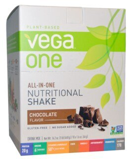 Vega One all-in-one Nutritional Shake  Chocolat, 10 sachets de 46 g
